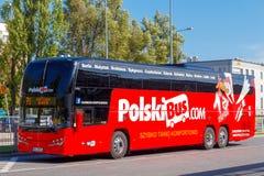 warsaw Autobusowy Polska Obrazy Royalty Free