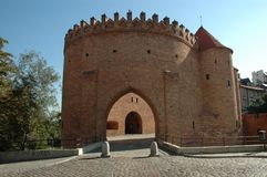 Warsaw Barbican. The historical outpost in the Old City of Warsaw Royalty Free Stock Image