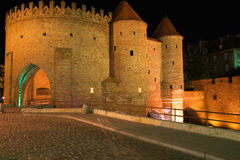 Warsaw Barbican. The historical outpost in the Old City of Warsaw Stock Photography