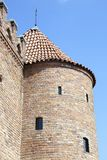 Warsaw Barbican Tower. The 16th century Barbican tower, the defense castle at the entrance to Warsaw old town Poland stock images