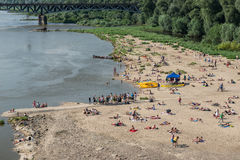 Warsaw beach Royalty Free Stock Photos