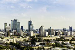 Warsaw business center Royalty Free Stock Images