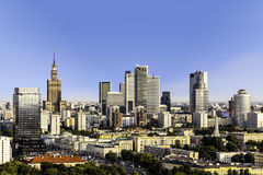 Warsaw business district Royalty Free Stock Images