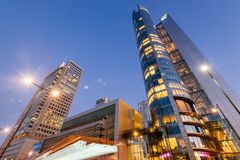 Warsaw Business District royalty free stock photo