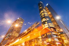Warsaw Business District royalty free stock image