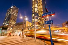 Warsaw Business District royalty free stock photos
