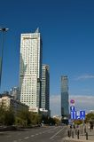Warsaw bussines district (Poland) Stock Photography