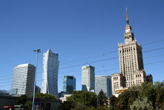 Warsaw bussines district (Poland) Royalty Free Stock Images