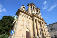 Warsaw - Carmelite church Royalty Free Stock Images
