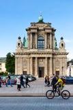 Warsaw, Carmelite Church stock photo