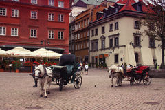 Warsaw carriages Royalty Free Stock Photography