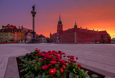 Warsaw. Castle square in Old town Stock Photography