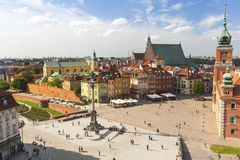 Warsaw Castle Square in the old town Royalty Free Stock Photography