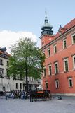 Warsaw Castle and Tower. Warsaw castle tower poland horse carriage front stock images