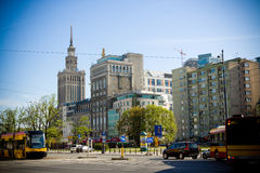 Warsaw center Royalty Free Stock Photos