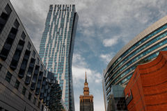 Warsaw Center - main buildings Royalty Free Stock Photos