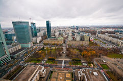 Warsaw Centre Aerial view Stock Photo