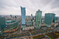 Warsaw Centre Aerial view Royalty Free Stock Photo