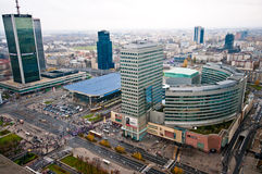 Warsaw Centre Aerial view Stock Photos