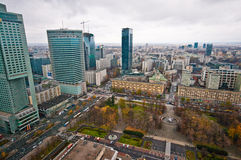 Warsaw Centre Aerial view Royalty Free Stock Photography