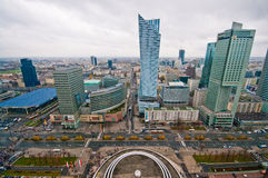 Warsaw Centre Aerial view Royalty Free Stock Images