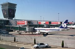 The Warsaw Chopin Airport (WAW) Royalty Free Stock Images