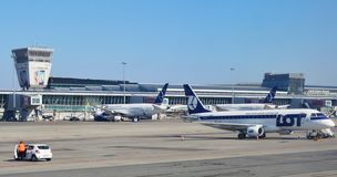 The Warsaw Chopin Airport (WAW) Stock Photo