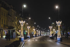 Warsaw Christmas Decorations at Barbican Royalty Free Stock Photos