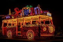 Warsaw Christmas lights. Light decorations in the Christmas season - Warsaw, Poland royalty free stock image