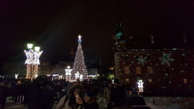 Warsaw Christmas tree Royalty Free Stock Photography