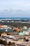 WARSAW CITY, Aerial view, Holy Trinity Church royalty free stock photos
