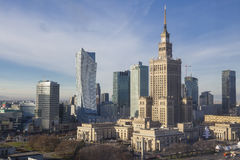 Warsaw city. Warsaw business city center. Poland Stock Image