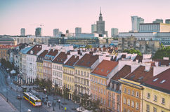 Warsaw city center. Royalty Free Stock Photos