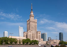 Warsaw city center with Palace of Culture, Poland Royalty Free Stock Photo