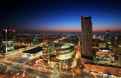 Warsaw city center Royalty Free Stock Image
