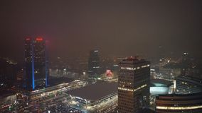 Warsaw city center. View from tbe palace of culture and science.  royalty free stock photography