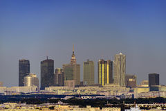 Warsaw city downtown panorama Royalty Free Stock Image