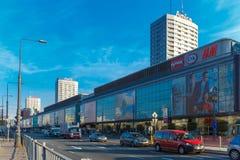 Warsaw city downtown, Poland. stock image