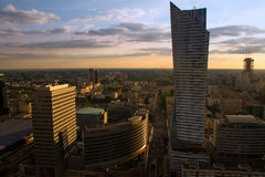 Warsaw city high view Stock Images