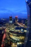 Warsaw City by night. City of Warsaw, Poland, by night royalty free stock photo