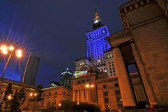 Warsaw city night life Royalty Free Stock Photo
