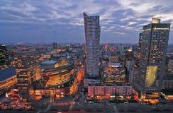 Warsaw city night life Stock Photos