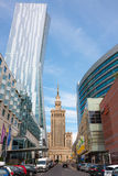 Warsaw City, old and modern architecture royalty free stock photo