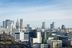 Warsaw city panorama Stock Photos