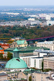 WARSAW CITY panorama, Holy Trinity Church Royalty Free Stock Photography