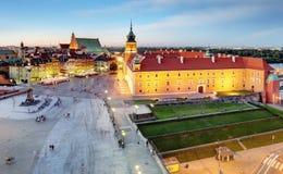 Warsaw city at sunrise, Poland Royalty Free Stock Photos