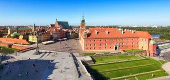 Warsaw city at sunrise, Poland Stock Photography