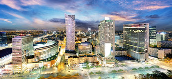 Free Warsaw City With Modern Skyscraper At Sunset, Poland Royalty Free Stock Photography - 83859157