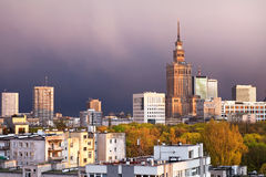Warsaw Cityscape Stock Photo