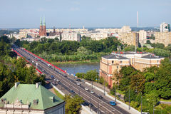 Warsaw Cityscape Stock Photography
